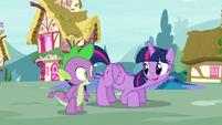 Twilight invites Spike to hop on S5E3
