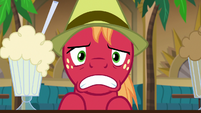 Big Mac's mouth droops into a frown S8E10