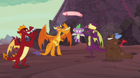 Dragons play keepaway with Spike's blanket S9E9