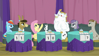 Fluttershy and Bulk about to high-hoof S9E16
