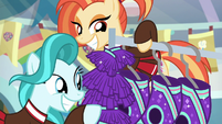 Lighthoof and Shimmy admiring uniforms S9E15