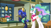 Luna excited while Derpy looks for stamp S9E13
