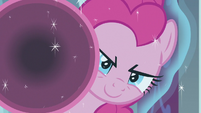 Pinkie Pie appears with mini party cannon S9E24
