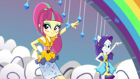 Sour Sweet and Rarity disco-dancing EGS1