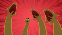 Three hydra heads roar as the fourth is left confused S01E15