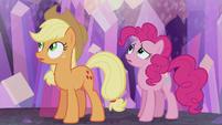 AJ and Pinkie hear a train whistle S5E20