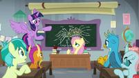 Fluttershy's boring classroom S8E1