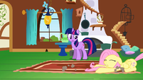 Fluttershy being dragged S2E21