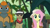 Fluttershy in safari attire S9E21