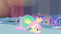 Fluttershy magically dragged S1E20