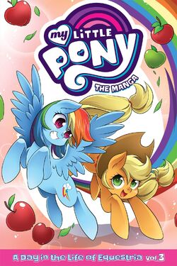 MLP The Manga - A Day in the Life of Equestria Vol. 3 cover.jpg