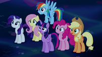 Mane Six happy for Princess Luna S5E13