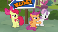 "Scootaloo ""staying with the CMCs!"" S9E12"
