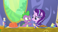 """Spike whispering """"just keep her here"""" S7E15"""