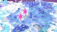 Twilight's double cutie marks float over Twilight's castle S6E12
