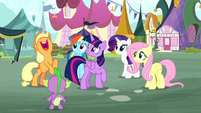 Applejack excited about Twilight's idea S8E18