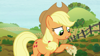 Applejack with apple mash on her hoof S8E12