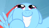 Filly Rainbow Dash big smile close up S1E23