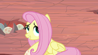 Fluttershy putting the dragon egg down S9E9