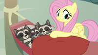 Fluttershy tucking in Smoky's family S9E23