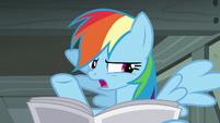 "Rainbow Dash ""looks forward to her retirement"" S7E18"