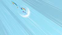 Rainbow Dash charging Sonic Rainboom S01E16