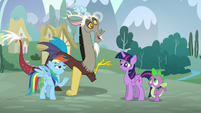 """Rainbow and Discord in unison """"What makes you think we practiced?"""" S5E22"""