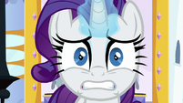 Rarity looking completely stressed S9E24