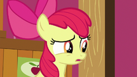 Apple Bloom's eyes dart back and forth S6E23