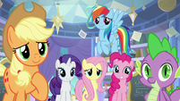 Applejack and friends smile with love S9E25