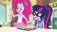 Pinkie Pie holding an anti-stress list CYOE4c