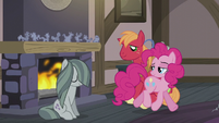 Pinkie looking at Big Mac and Marble S5E20