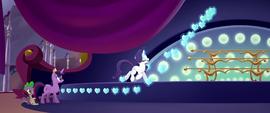 Rarity magically hangs crystal decorations MLPTM