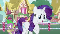 Rarity thanks Pinkie Pie for the compliment S7E9