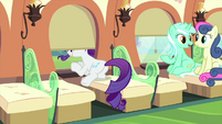 Rarity with head sticking out train window MLPS1