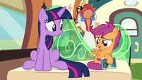 """Scootaloo """"happy with just my pony parts"""" S8E6"""