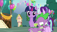 Spike worries about Ember and Thorax meeting S7E15