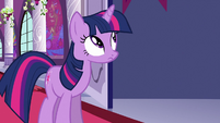Twilight looking up at the right S3E2