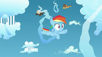 Young Rainbow, Dumb-Bell, and Hoops racing S5E26