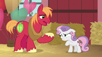 Big Mac apologizing to Sweetie Belle S8E10