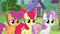 Cutie Mark Crusaders left alone at the camp S7E21