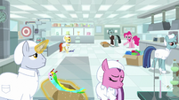 Factory workers emptying research lab S9E14