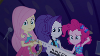Fluttershy, Rarity, and Pinkie are not with RD EGSB