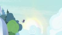 Marmoset floating through the sky S8E15