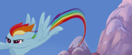 Rainbow zooming down to the festival MLPTM