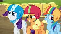 Rarity, AJ, Rainbow feeling embarrassed S6E14