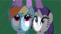 Rarity & Rainbow Dash hear Twilight S2E21