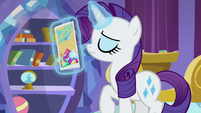 Rarity leaving with the brochure S9E19