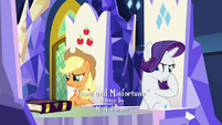 Rarity plugging her nose S7E14