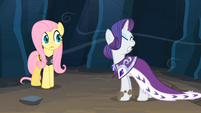 Rarity yellin & Fluttershy surprised S2E11